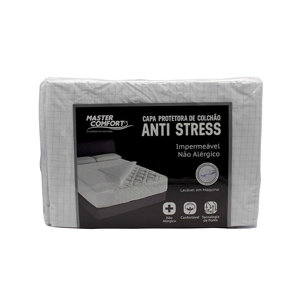 Capa Para Colchão Solteiro Impermeavel Anti-Stress Peletizado