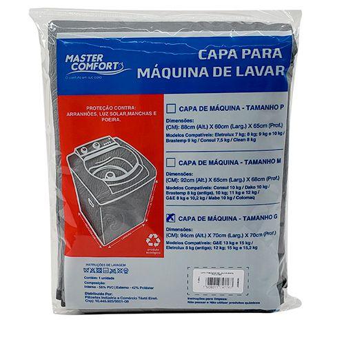 Capa para Máquina de Lavar Tamanho M Cinza
