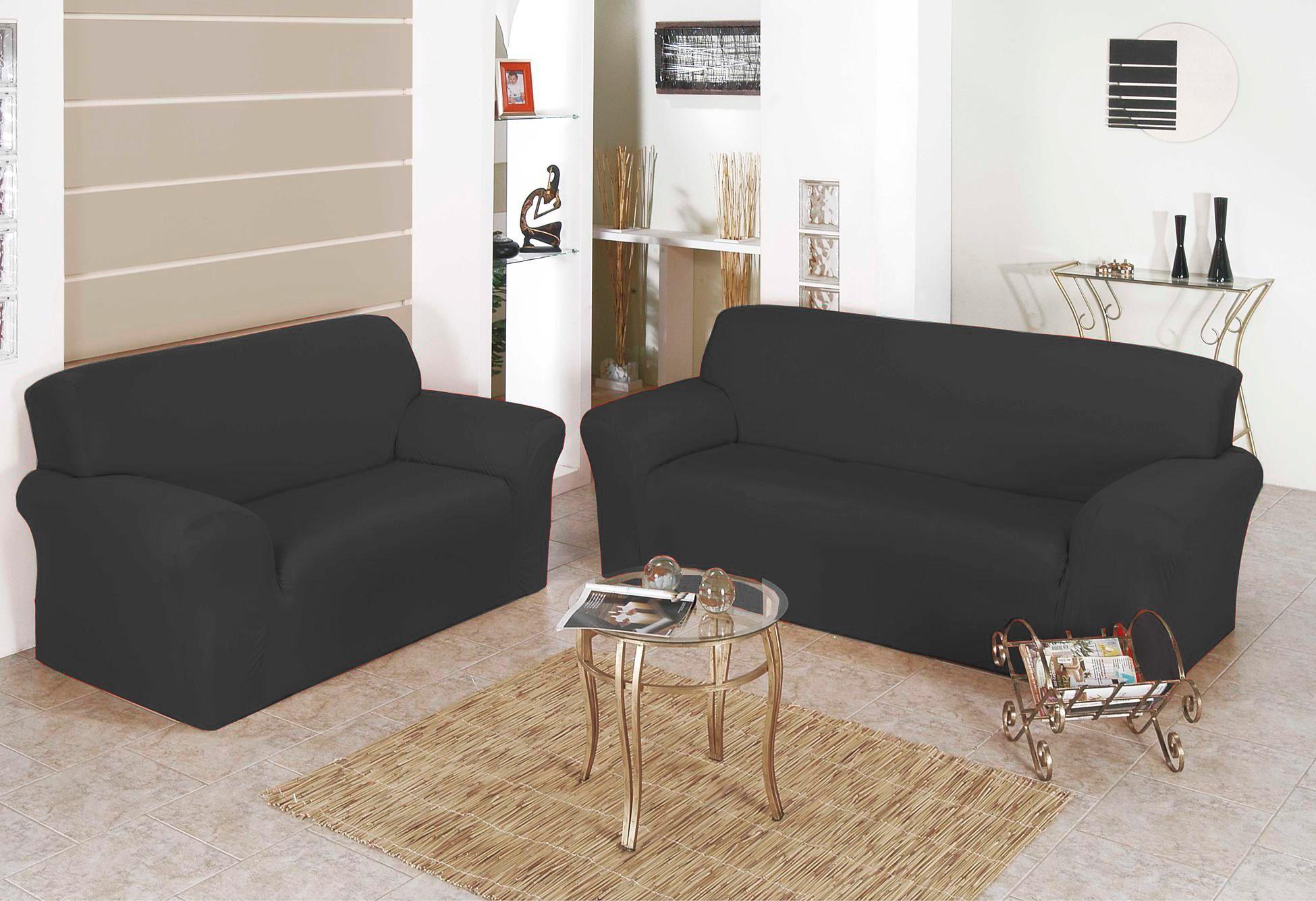 Capa para Sofa Belissima 2 e 3 Lugares Cinza Chumbo