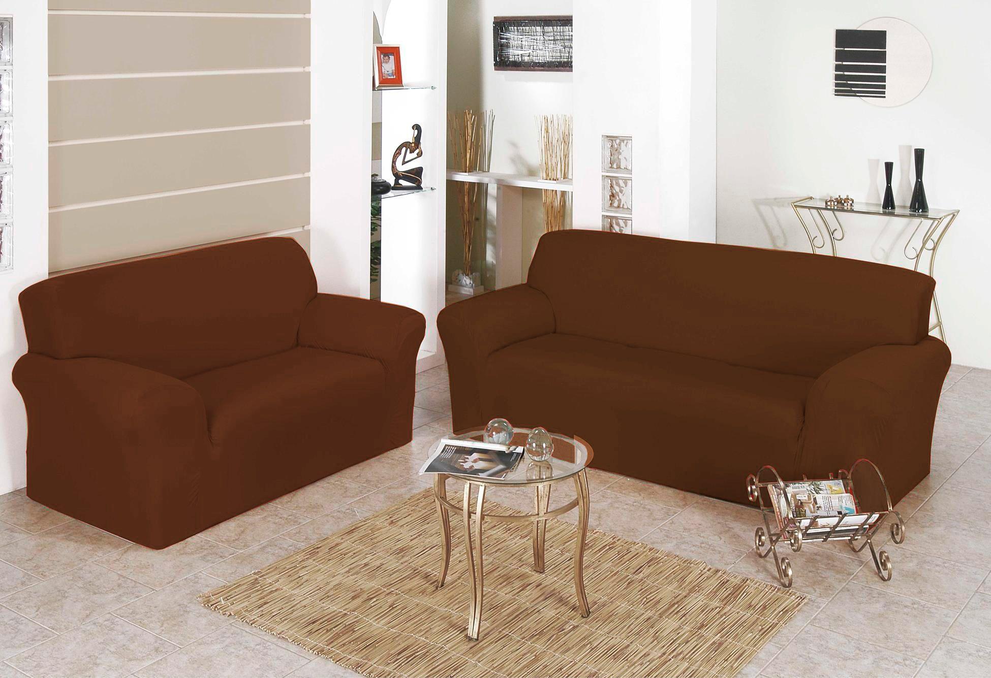 Capa para Sofa Belissima 2 e 3 Lugares Tabaco