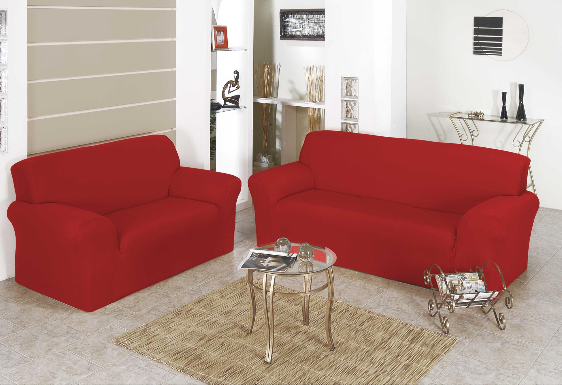 Capa para Sofa Belissima 2 e 3 Lugares Vermelho