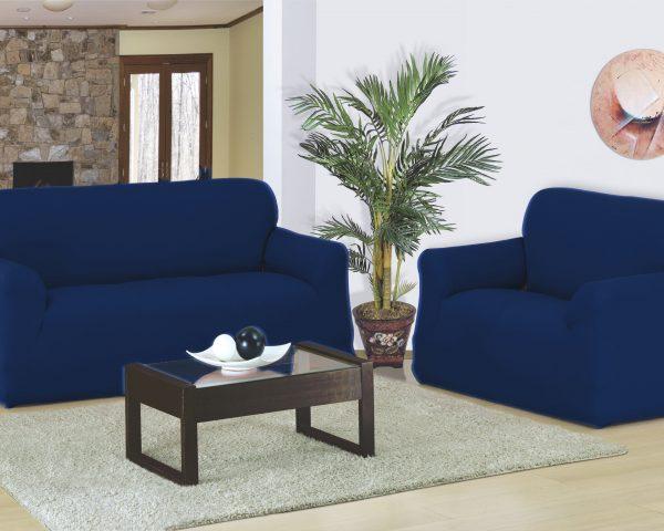 Capa para sofa Favorita 2 e 3 Lugares Marinho
