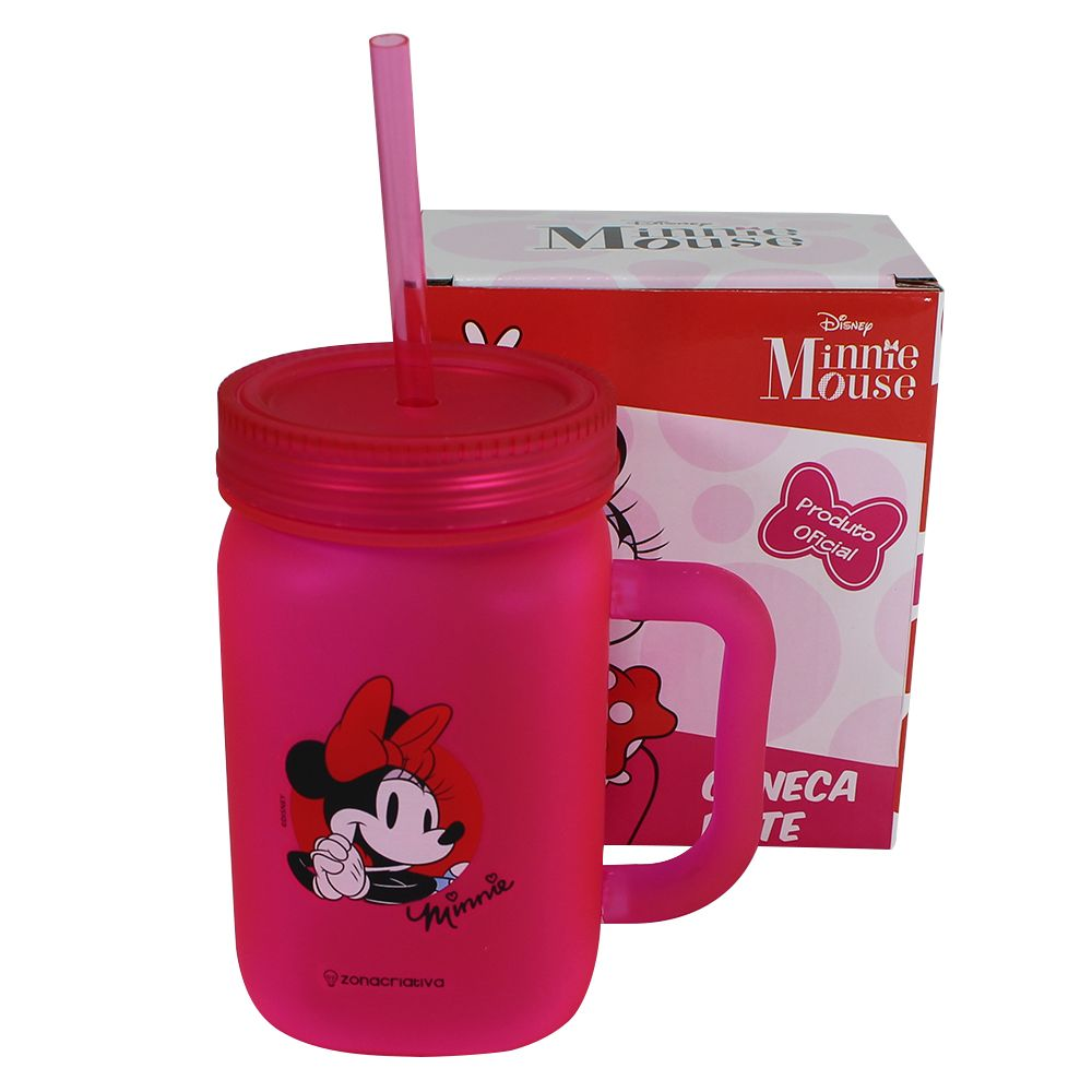Mini Caneca Pote Minnie Mouse Disney 450ml