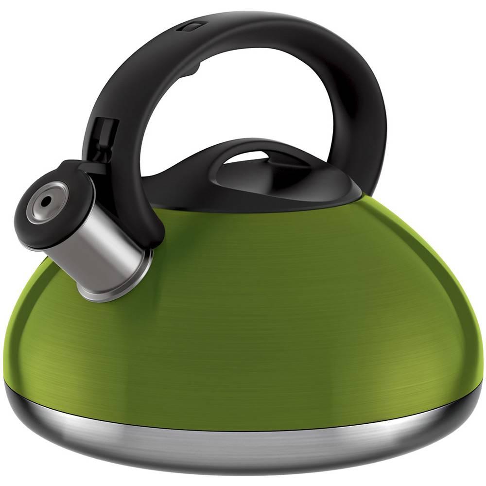 Chaleira Colors Euro Home Com Apito 3L Inox Verde