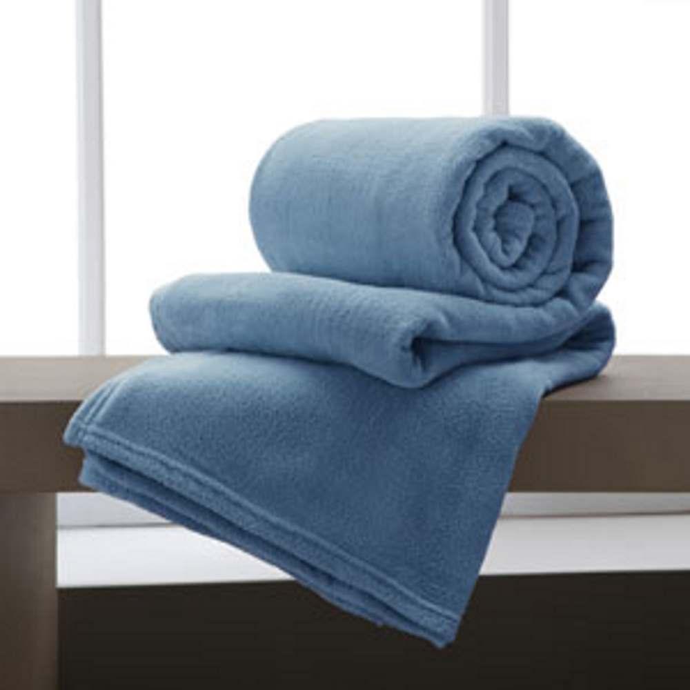 Cobertor Manta De Microfibra King 2,20x2,40M Indigo Corttex