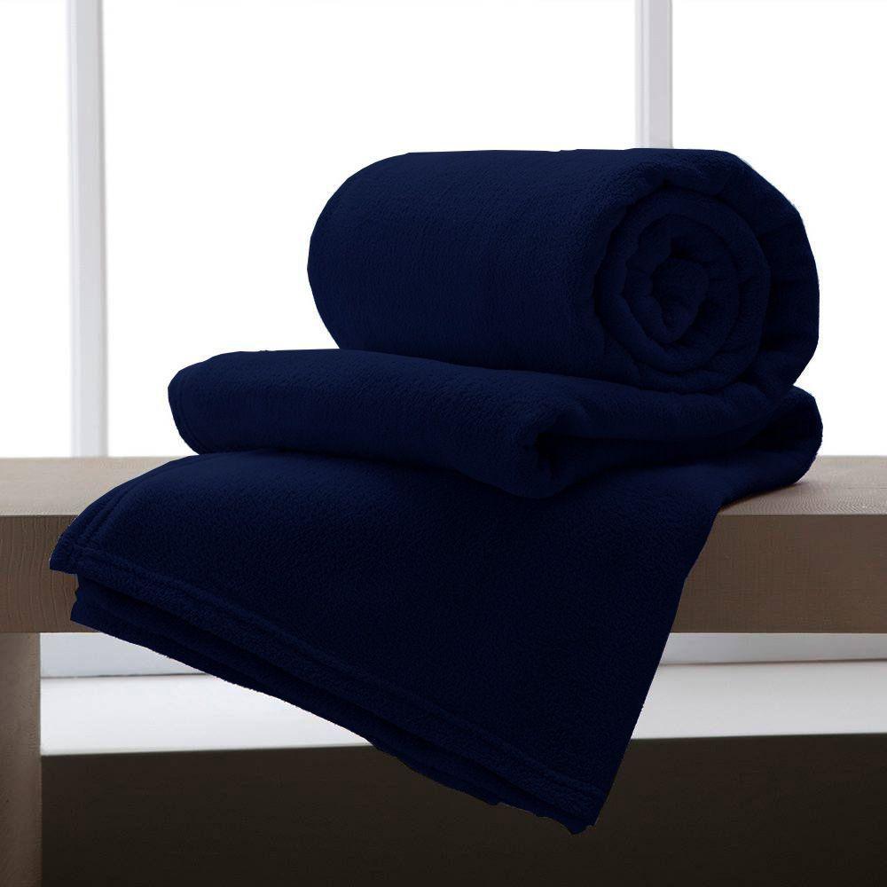 Cobertor Manta De Microfibra King 2,20x2,40M Corttex Marinho
