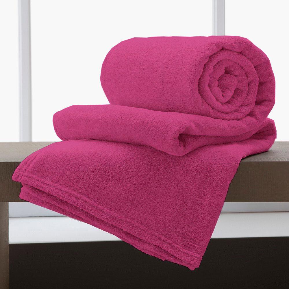 Cobertor Manta De Microfibra King 2,20x2,40M Corttex Pink
