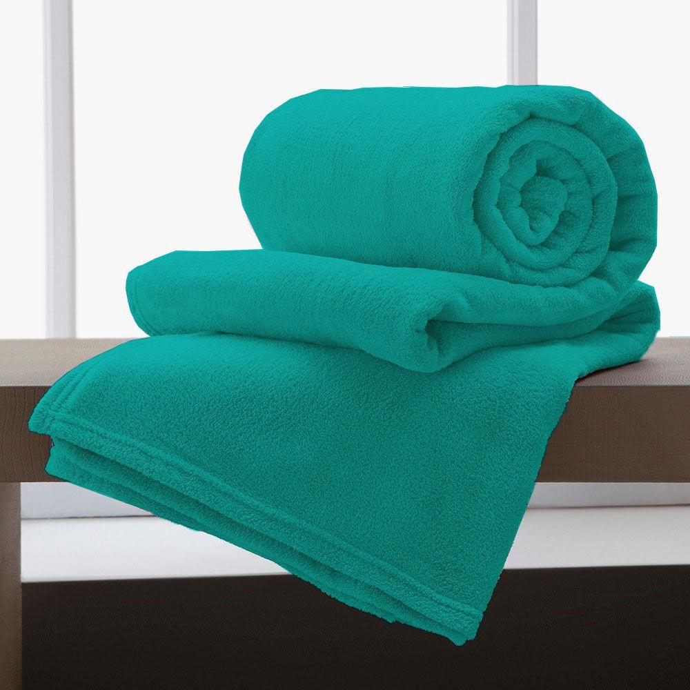 Cobertor Manta De Microfibra King 2,20x2,40M Corttex Turquesa