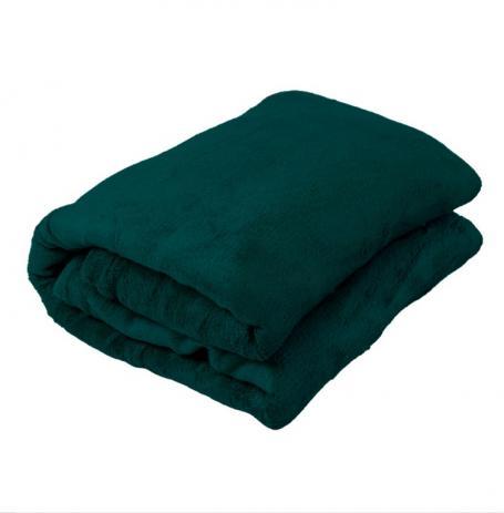 Cobertor Manta De Microfibra King 2,20x2,40m Corttex  Verde Escuro