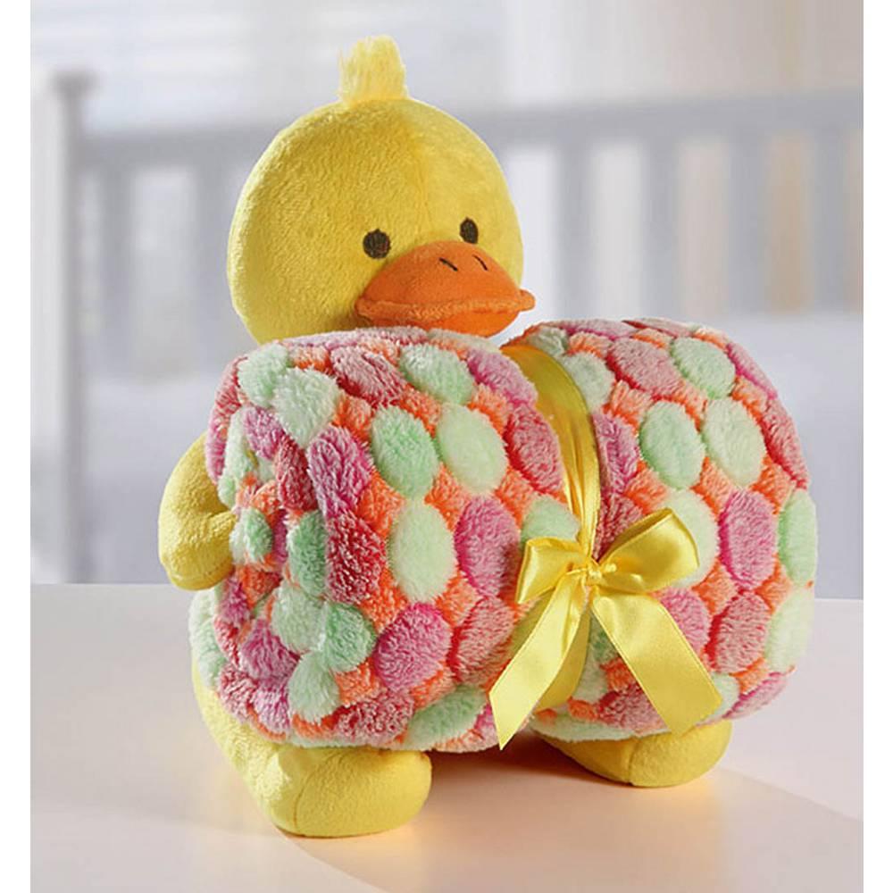 Cobertor Manta Para Bebê com Patinho De Pelúcia Bouton