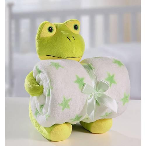 Cobertor Manta Para Bebê com Sapinho De Pelúcia Bouton