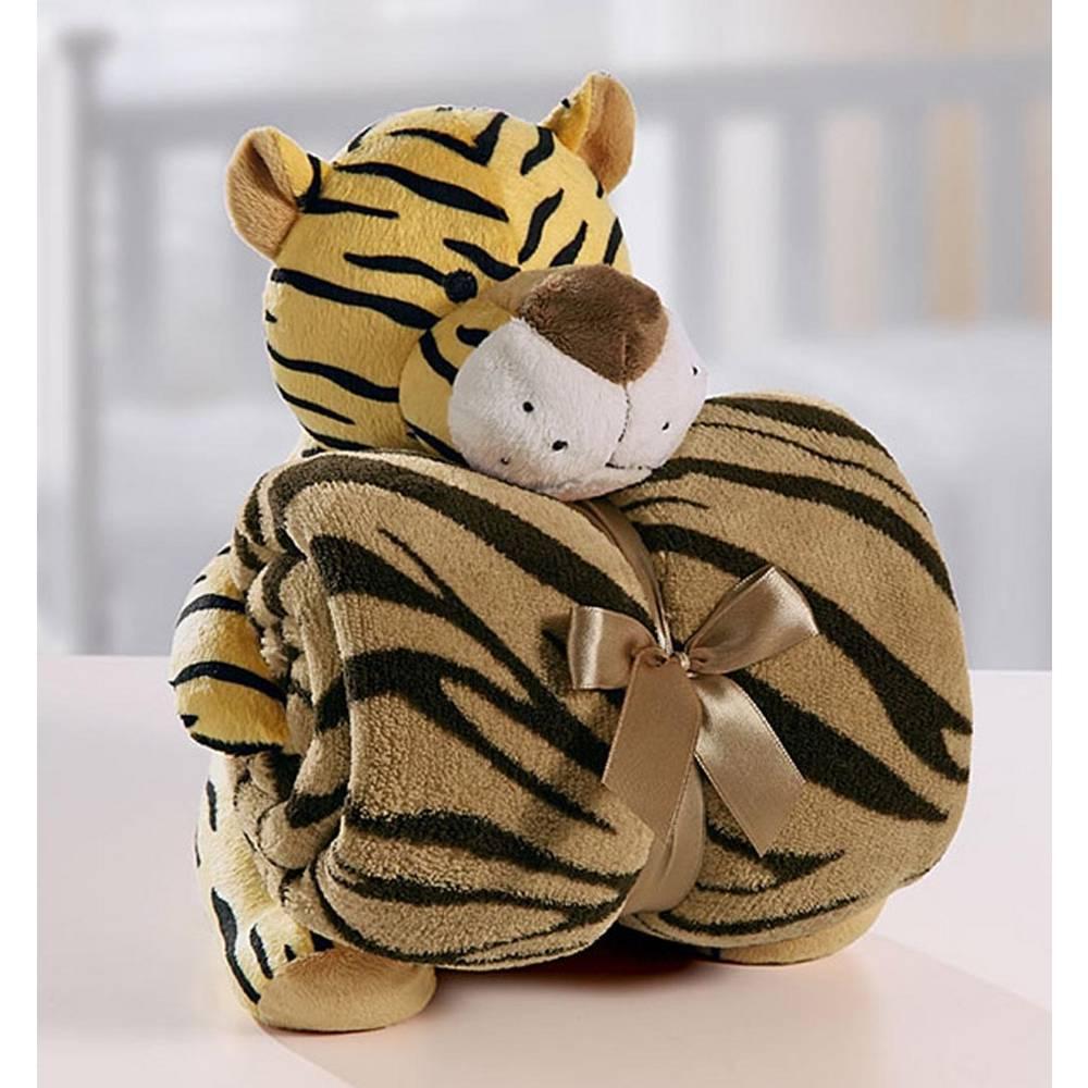 Cobertor Manta Para Bebê C/Tigre de Pelúcia - Bouton