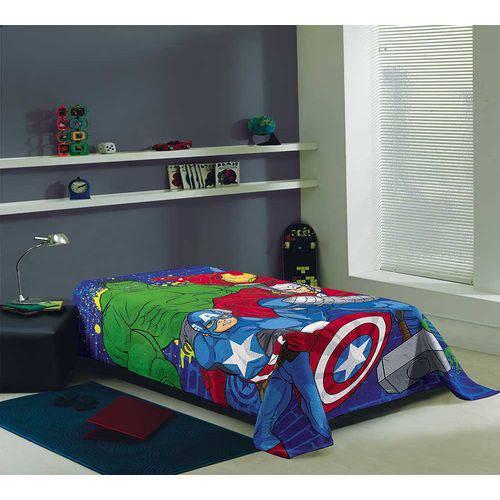 b10d66f04a Cobertor Manta Solteiro Fleece Estampada Avengers mod 2 - Lepper