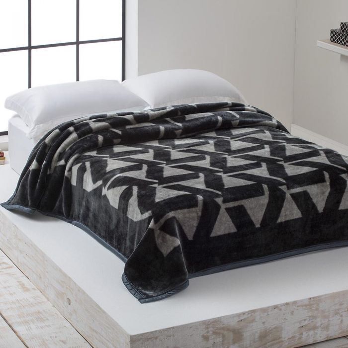 Cobertor Microfibra Home Design Casal Gregorio Chumbo
