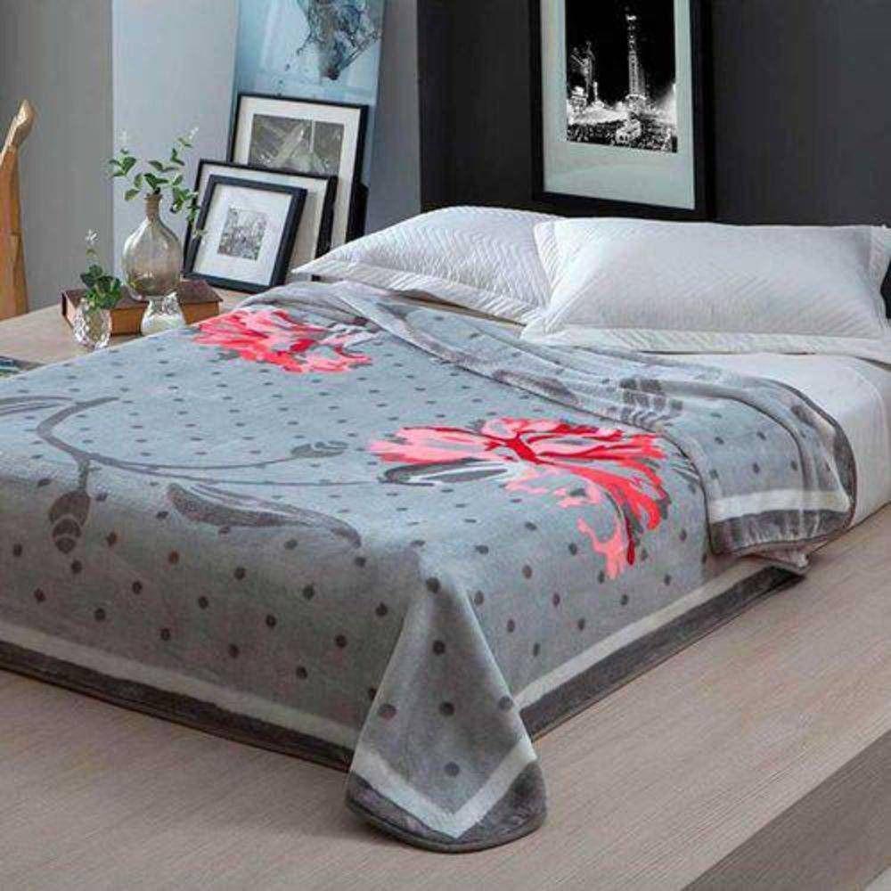 Cobertor Microfibra Home Design Casal Inspiração Vermelho