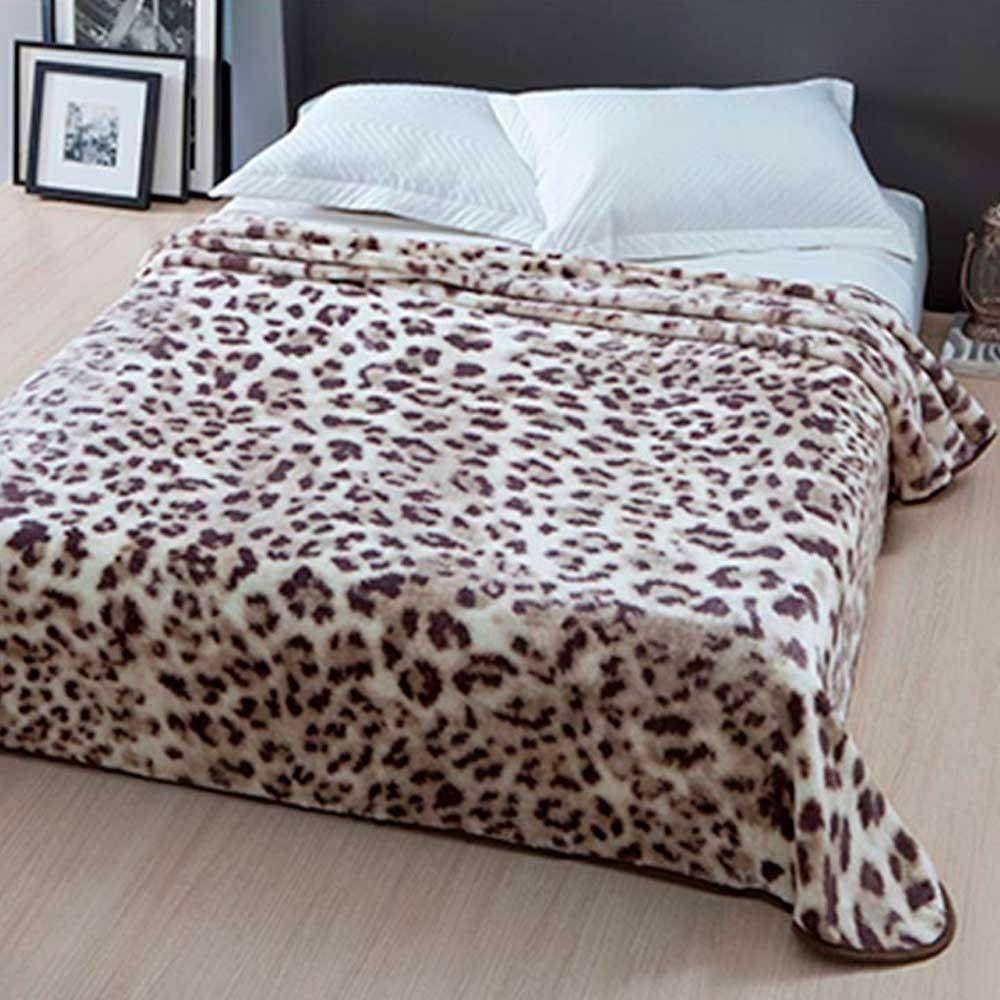 Cobertor Microfibra Home Design Casal Nairobi Marrom