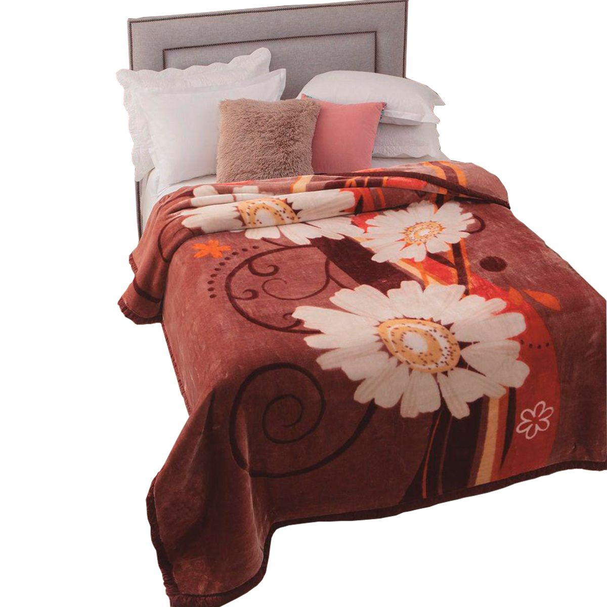 Cobertor Raschel Plus Casal Poliester Caster 180x220cm