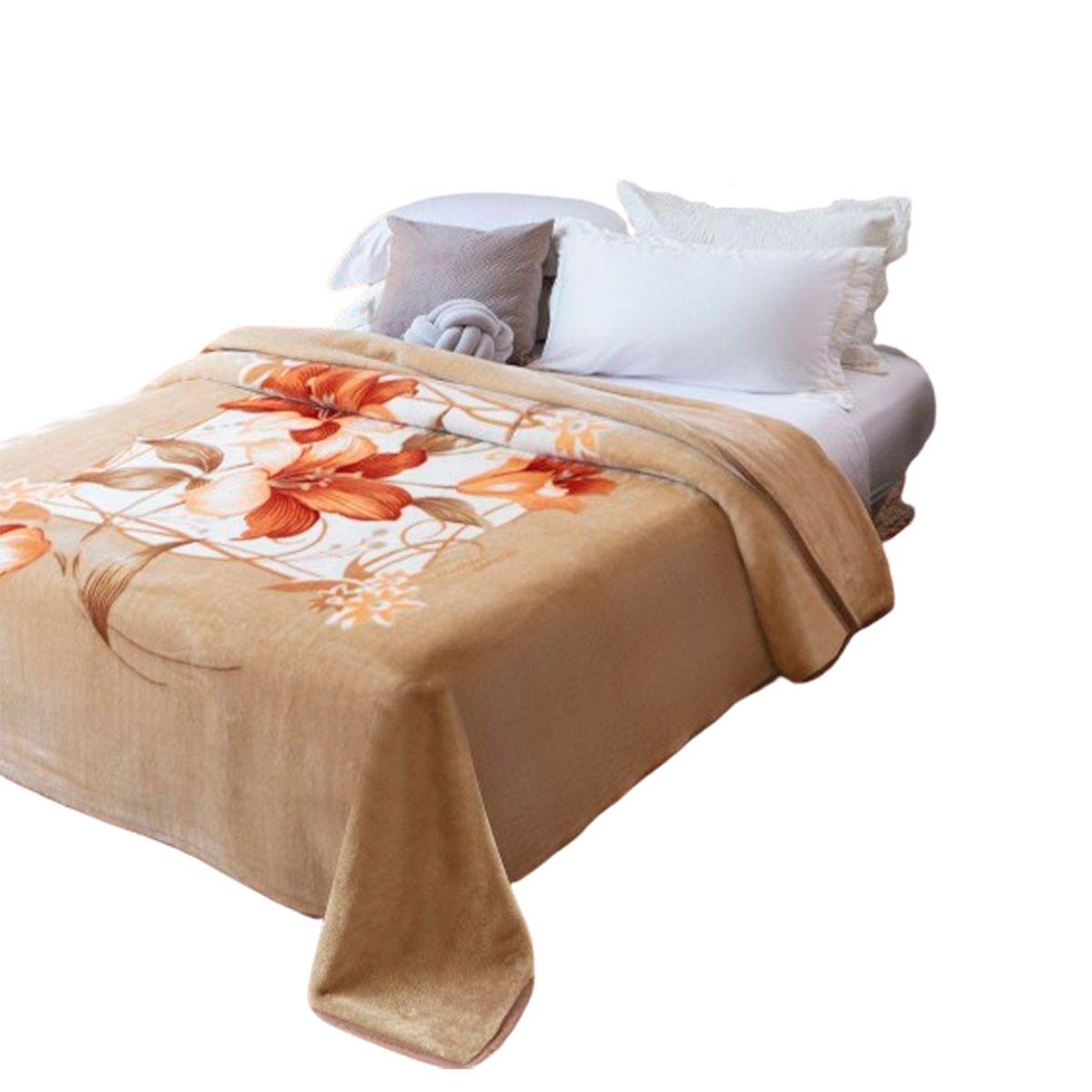 Cobertor Raschel Plus Casal Poliester Estampado Molino 180x220cm