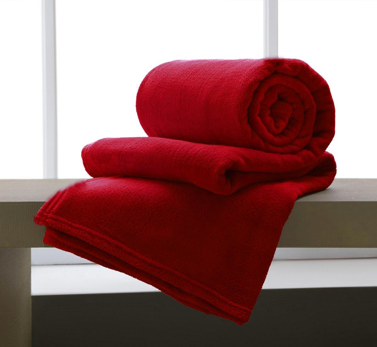Cobertor Manta De Microfibra King 2,20x2,40M Corttex Vermelho