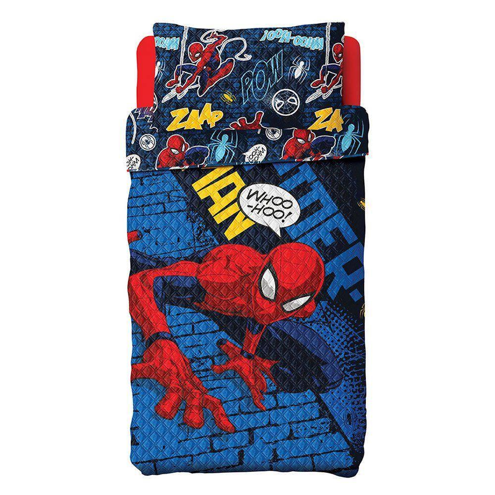Colcha Bouti Dupla Face Spider Man 02 Pçs