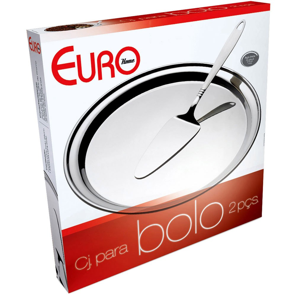 Conjunto Para Bolo Euro Home Inox 2 Peças