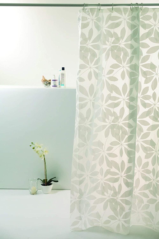 Cortina Box Flores Brancas Peva 180x160cm