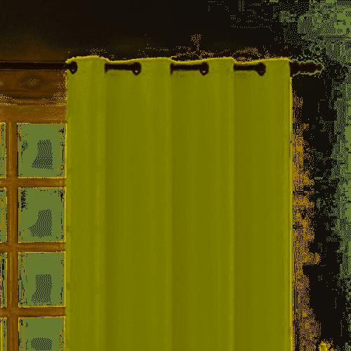 Cortina Para Sala Com Ilhós Granitê 220x180cm Sultan Verde