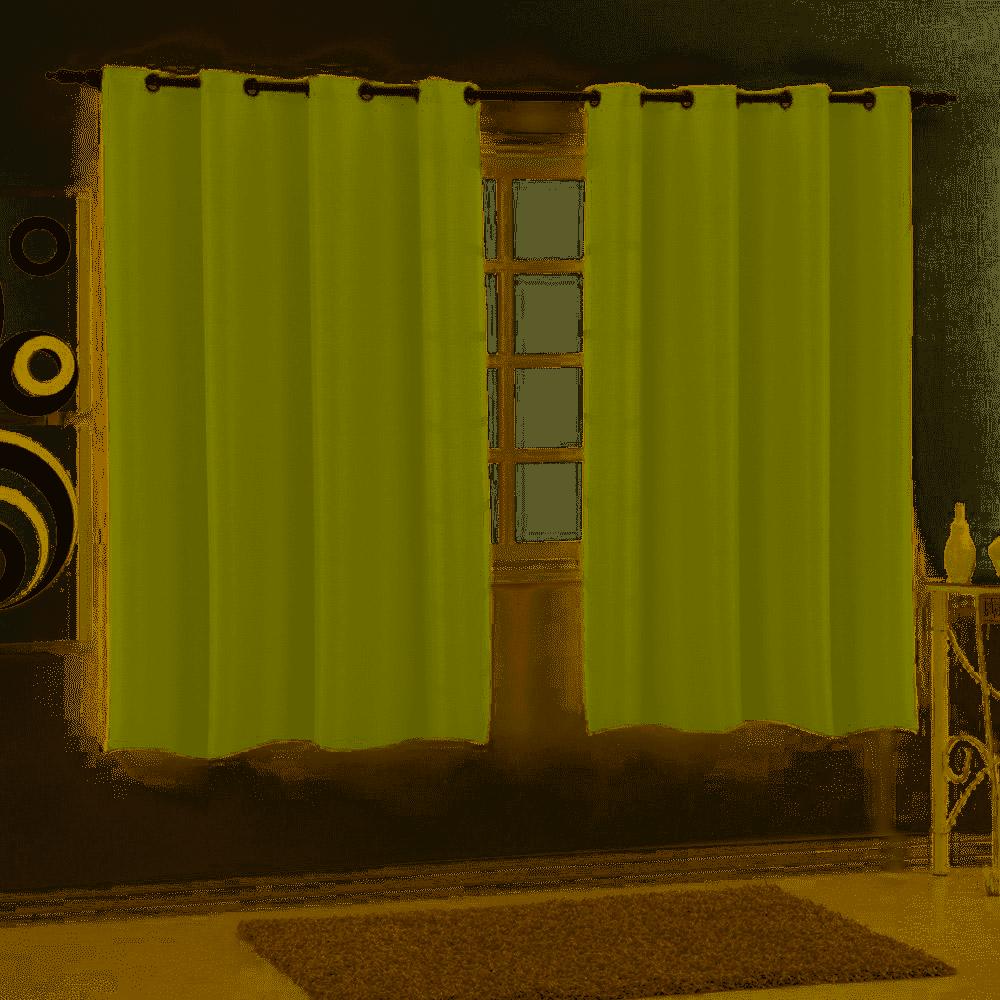 Cortina Para Sala/quarto Combinada Sueli 2,00x1,80 Sultan Verde