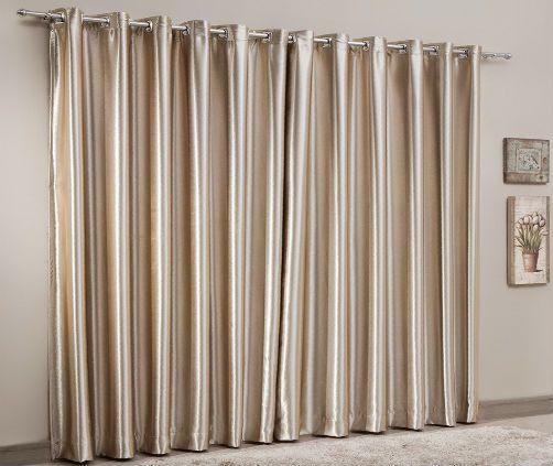 Cortina Corta Luz Blackout Naturalle Fashion 3,00x2,50 Em Embossed Dourado