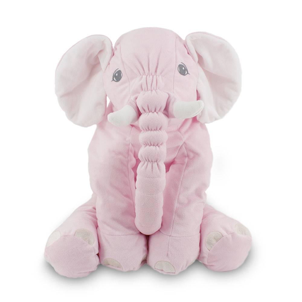 Almofada De Elefante Para Bebê 60cm Rosa