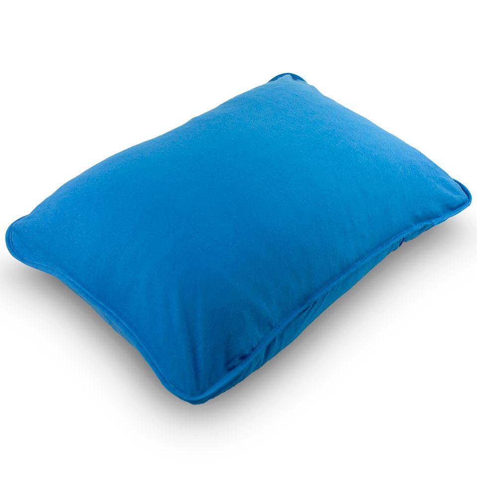 Fronha Avulsa Malha Penteada 100% Algodão Azul Marine