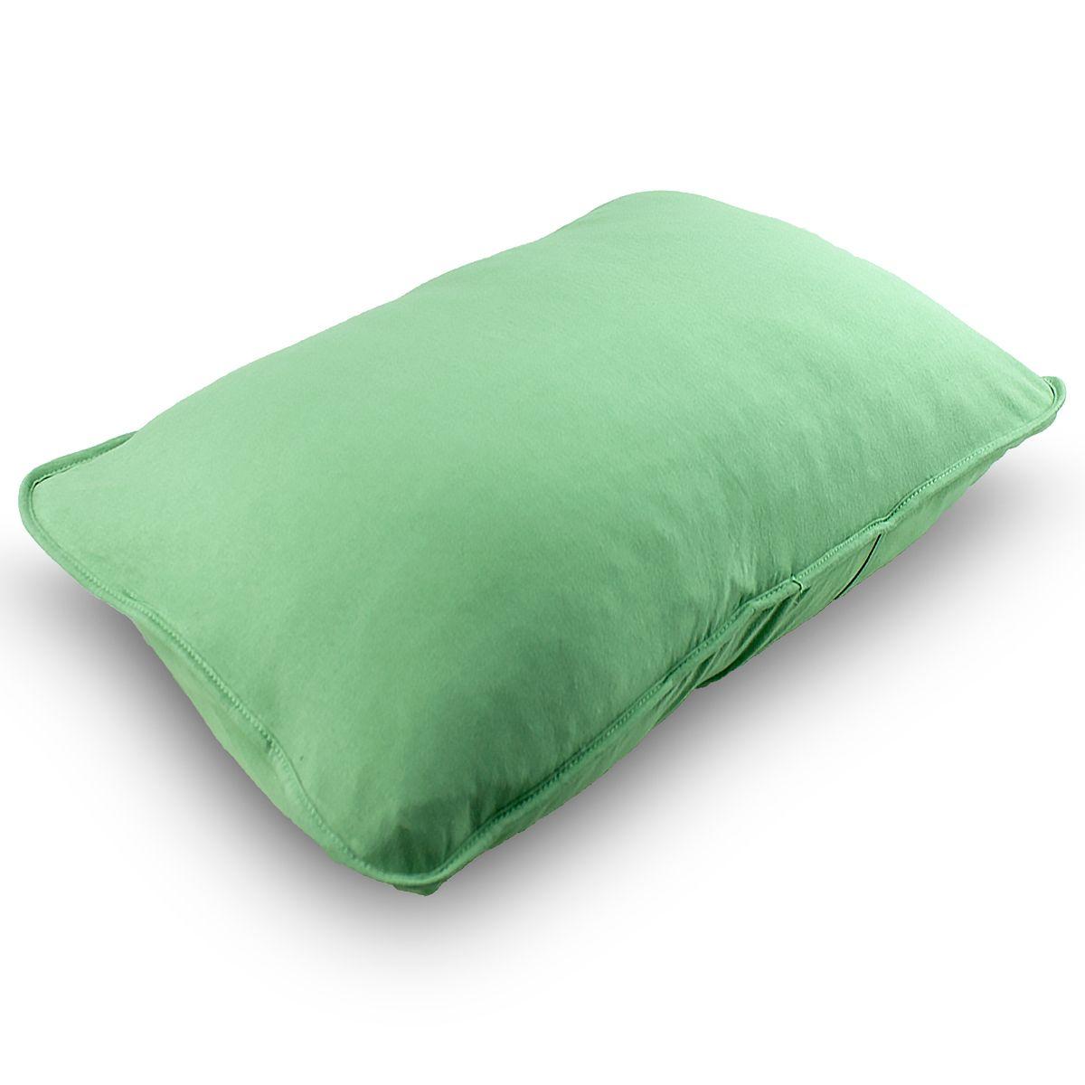 Fronha Avulsa Malha Penteada 100% Algodão Verde