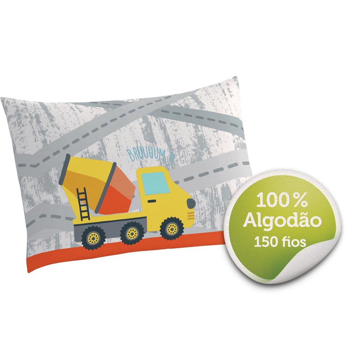 Fronha Avulsa 100% Algodão Truck 50cmx70cm Lepper