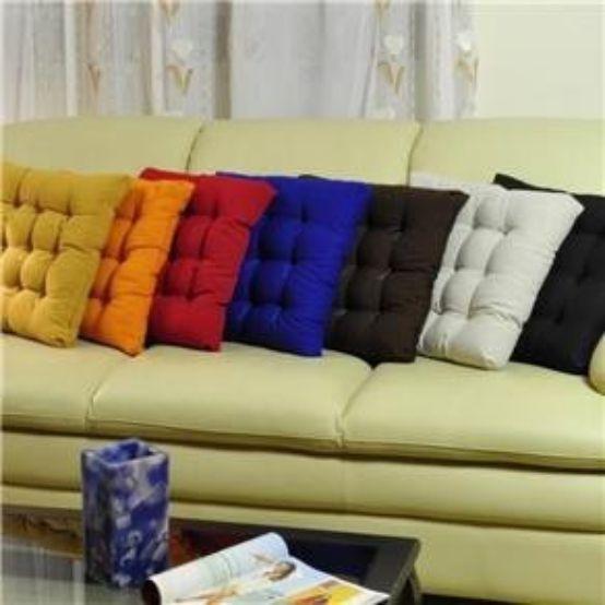 Jogo 14 Assentos para Cadeira Tecido Oxford 40x40cm Futon Couro&Cor