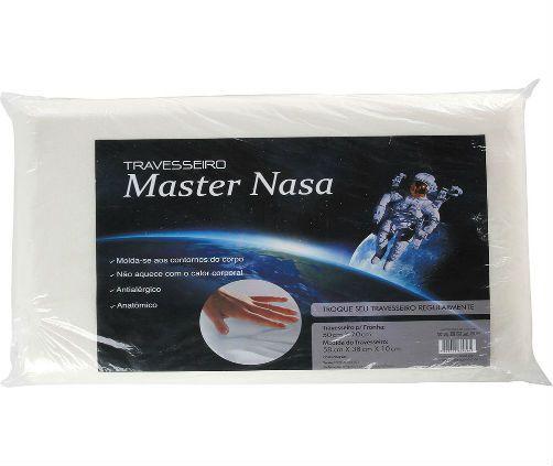 Jogo 2 Travesseiros Nasa Viscoelástico 58x38x10cm Master Comfort
