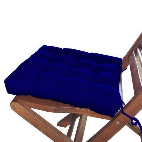 Jogo 12 Assentos P/Cadeira Tecido Oxford  Azul Royal