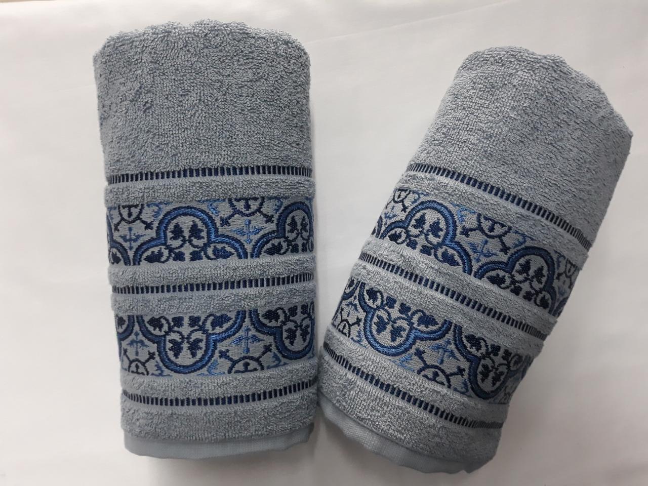 Jogo de 2 Toalhas de Banho Karsten Coimbra Azul