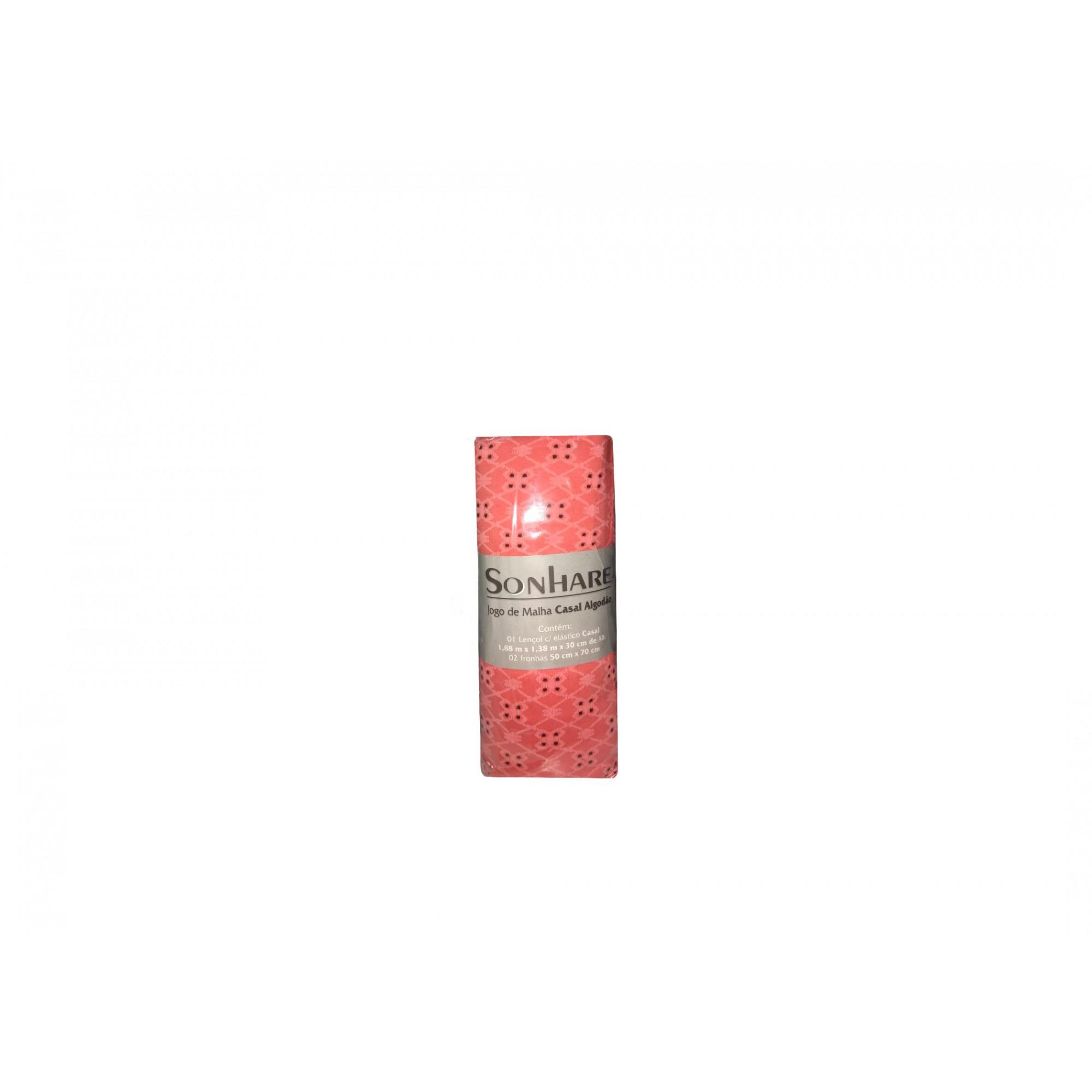 Jogo de Cama Casal 3 Peças 188x1,38M  Colonial Rosa Pink