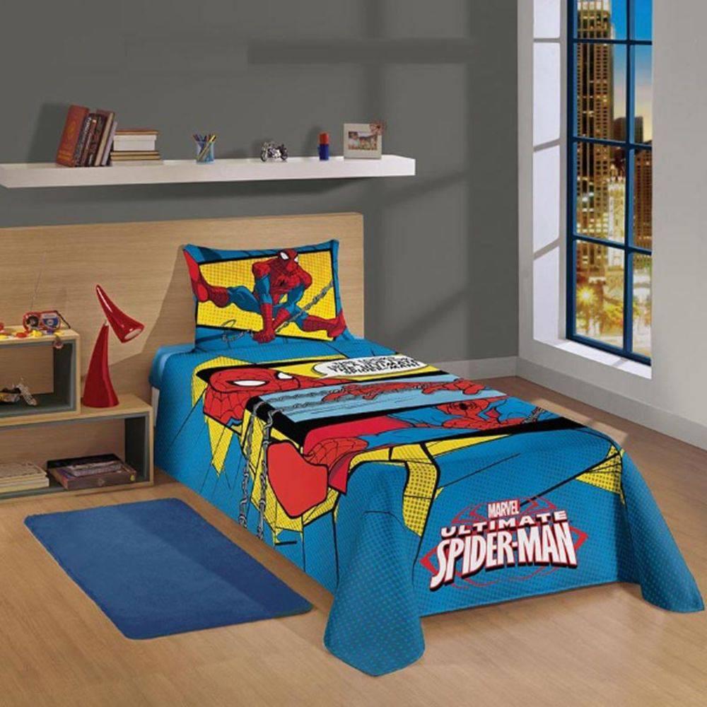 Jogo De Cama Solteiro Estampado Spider Man Ultimate 2Pçs