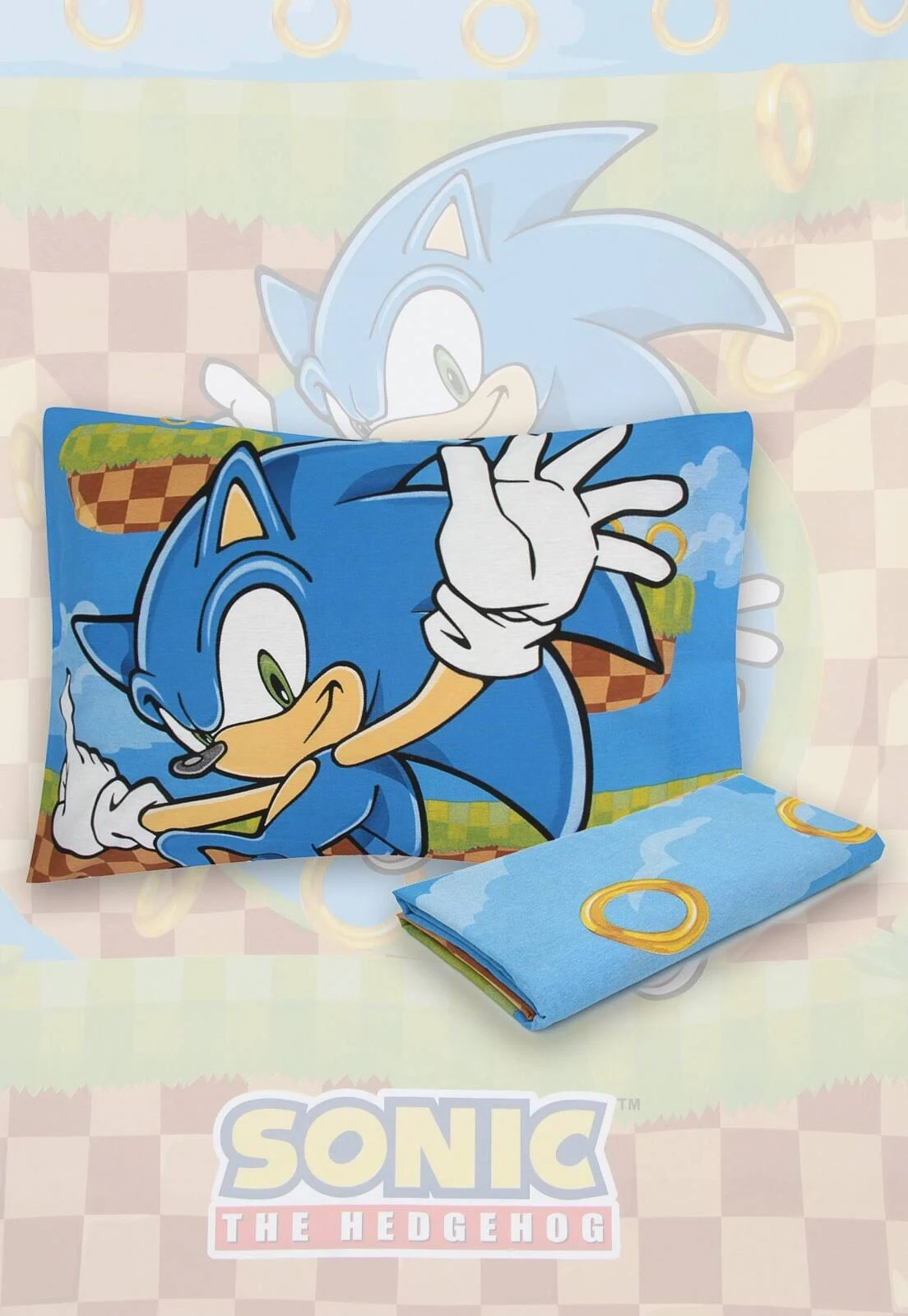 Jogo De Cama Sonic 2 Peças Lepper