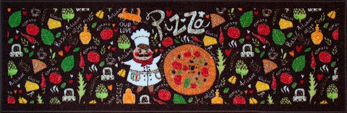 Jogo De Pia 3 Pcs 110x36/60x36 Pizza Marrom