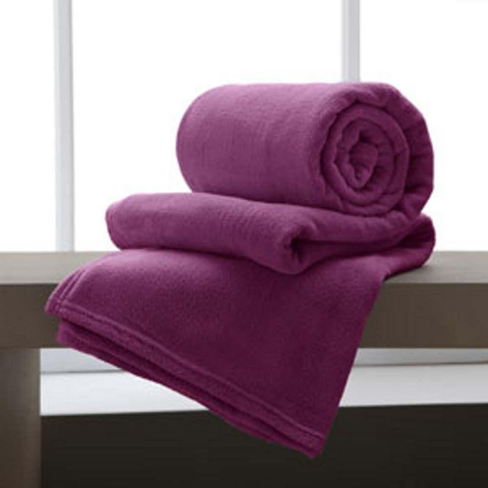 Jogo De 2 Cobertores Manta King De Microfibra 2,20x2,40 Corttex Cereja