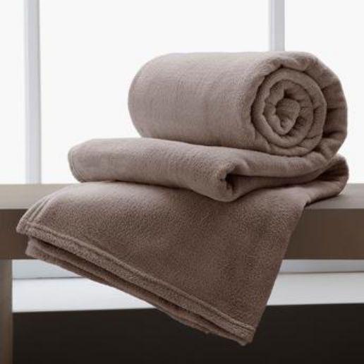 Jogo De 2 Cobertores Manta King De Microfibra 2,20x2,40 Corttex Marrom
