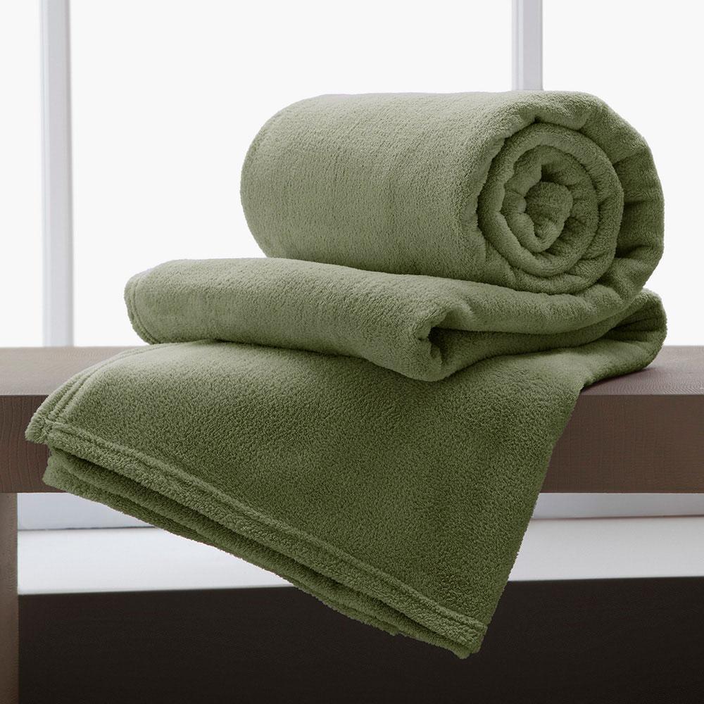Jogo De 2 Cobertores Manta King De Microfibra 2,20x2,40 Corttex Sage