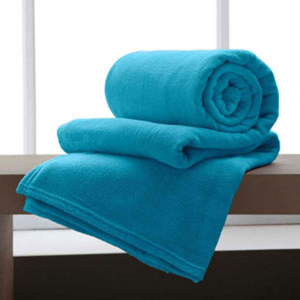 Jogo De 2 Cobertores Manta King De Microfibra 2,20x2,40 Corttex Turquesa
