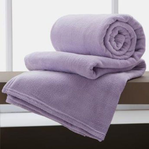 Jogo De 2 Cobertores Manta King De Microfibra 2,20x2,40 Corttex Violeta