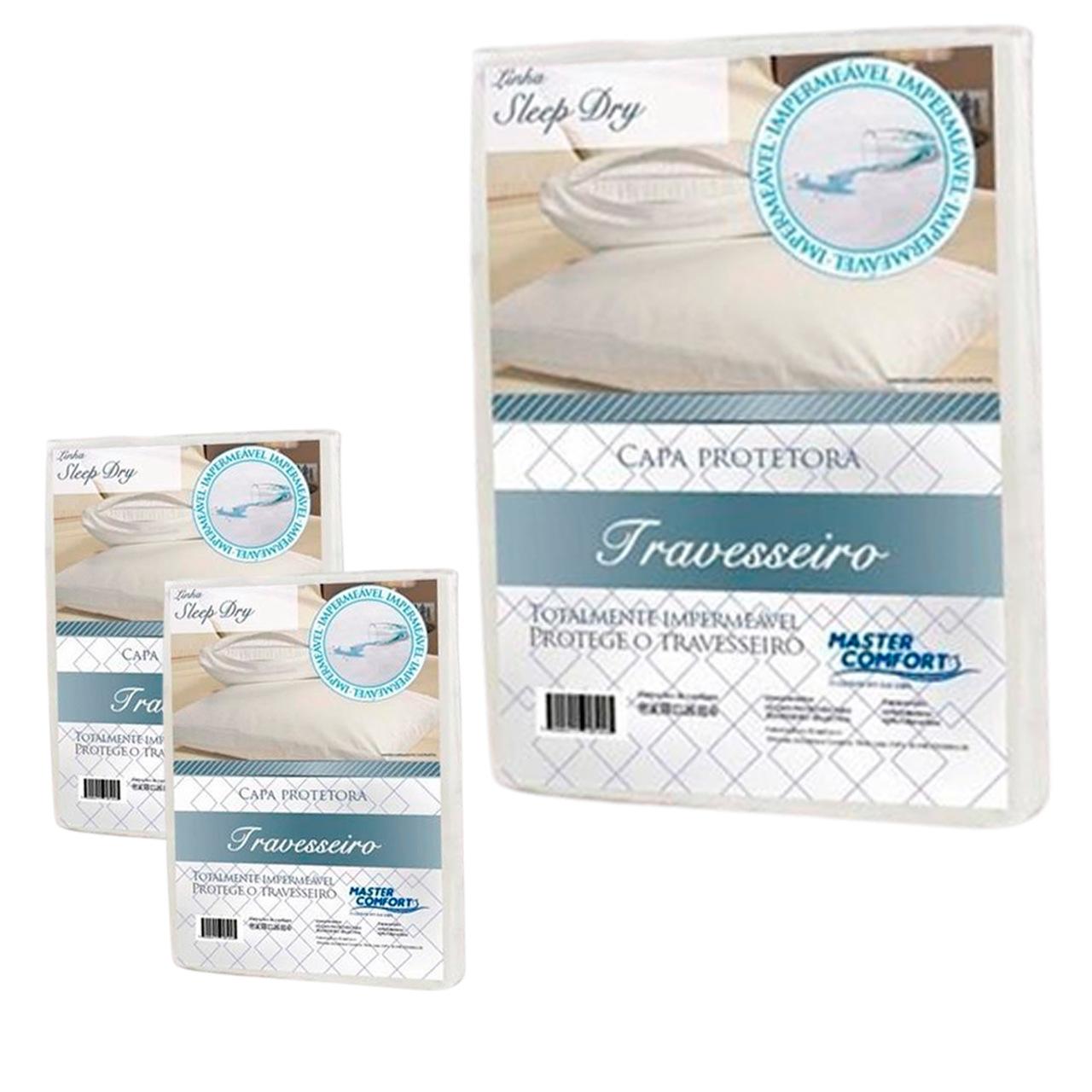 KIT 3 Capas Protetora Impermeável de Travesseiro Sleep Dry