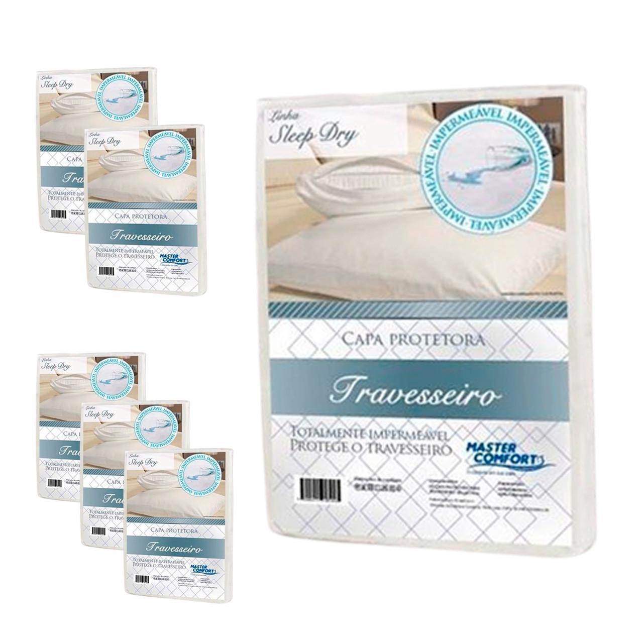 KIT 6 Capas Protetora Impermeável de Travesseiro Sleep Dry