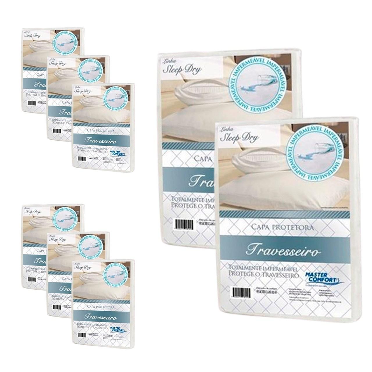 KIT 8 Capas Protetora Impermeável de Travesseiro Sleep Dry