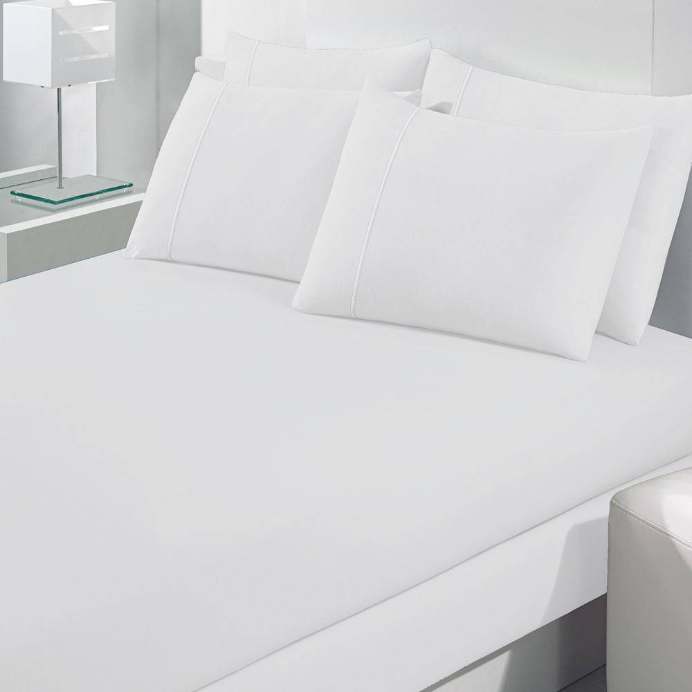 Lençol Avulso Casal Malha Com Elastico Branco - Bouton